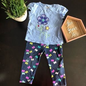 Jumping Beans Girls 2 piece set 18 month legging
